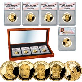 2014 S PROOF Set Presidential Dollars 4 Coin US Mint Harding Coolidge Hoover FDR