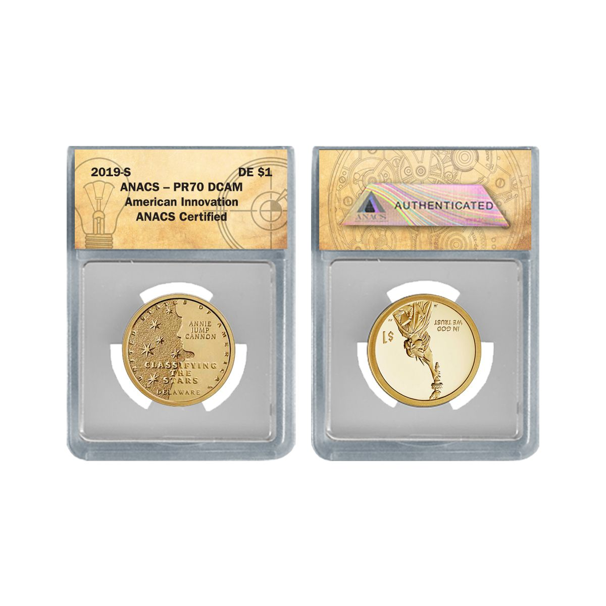 In Stock!! 2019-S Innovation Dollar-Classifying the Star Proof Coin