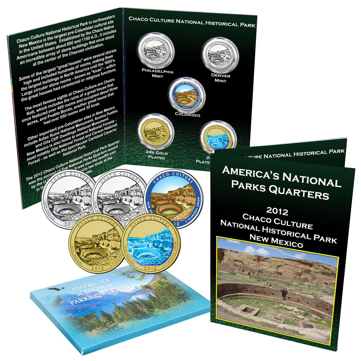 2012 P Chaco NM ~ National Parks ~ America the Beautiful ~ From Mint Set