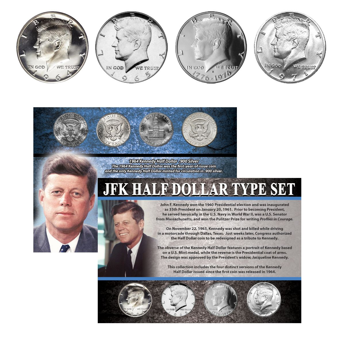 ARMY *NEW* FATHER/'S DAY Armed Forces Military JFK Half Dollar 2-Coin Set U.S