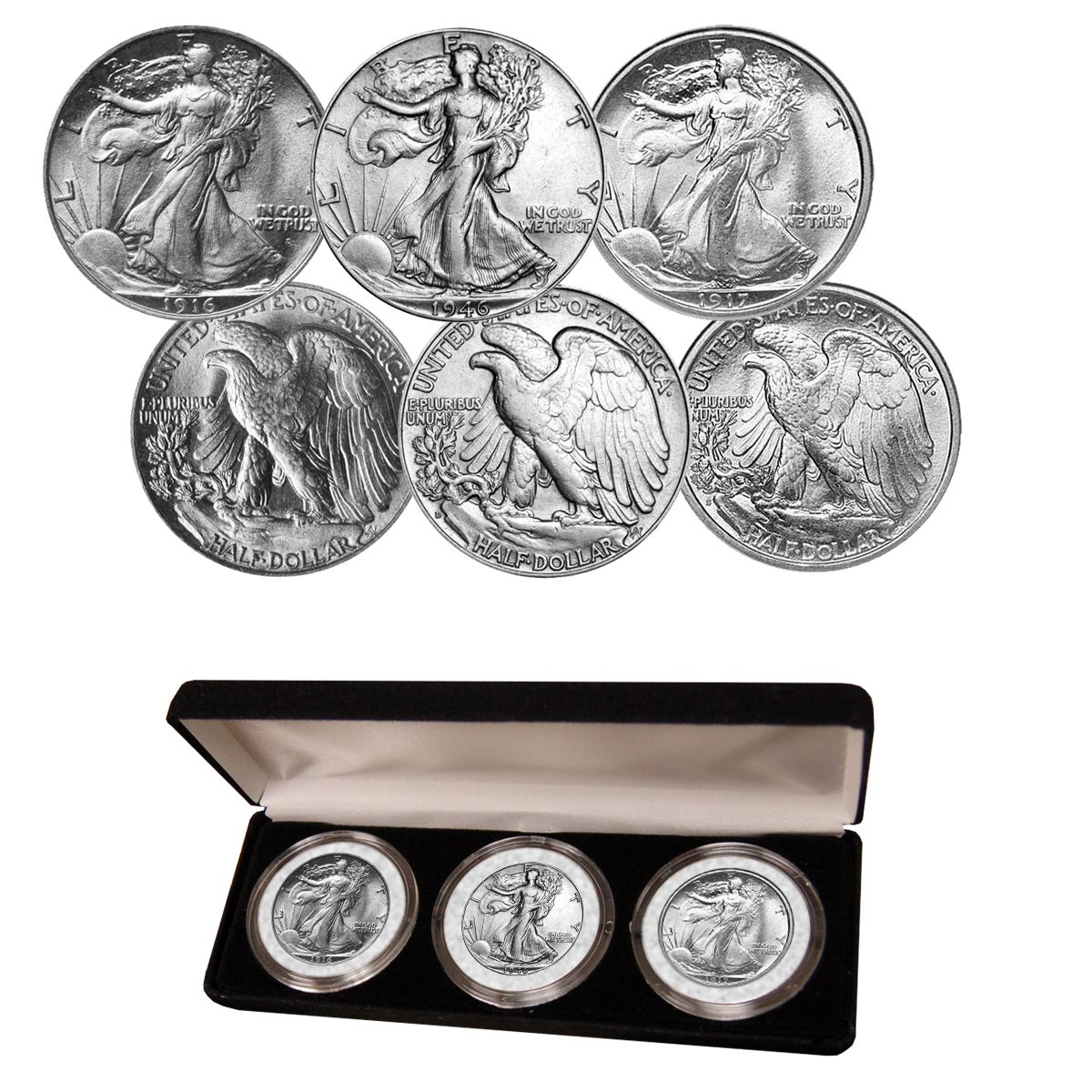 Walking Liberty Half Dollar Mint Mark Collection